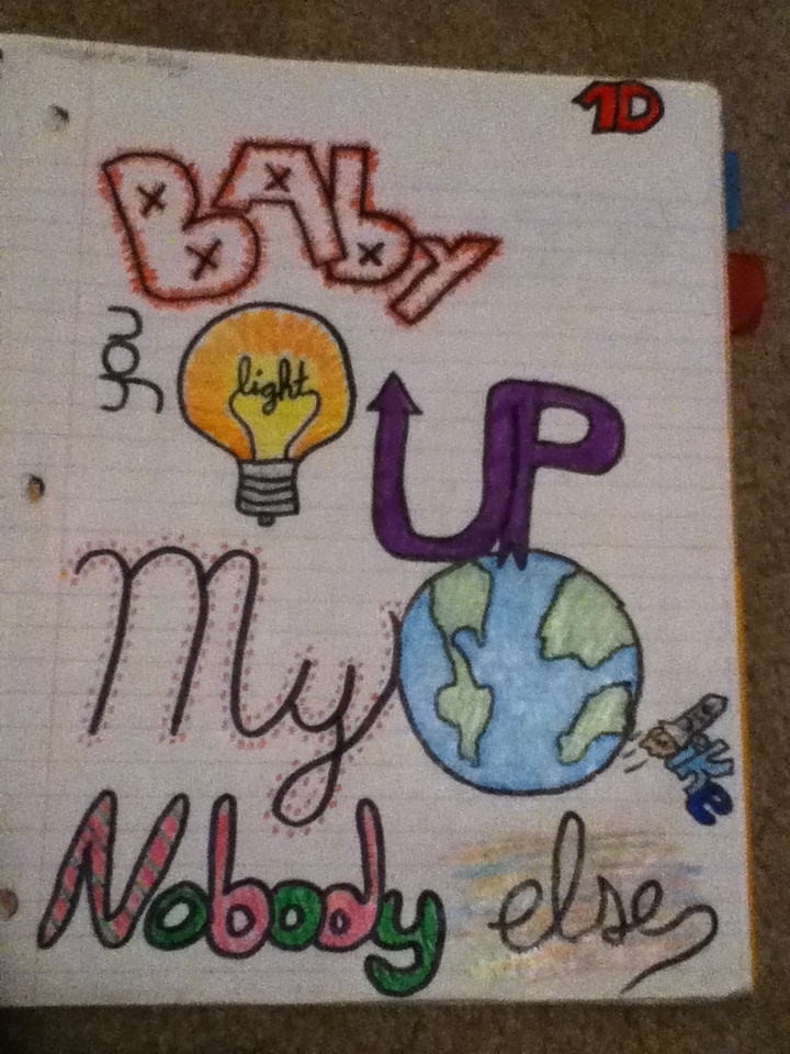 one direction lyrics drawings - photo #9