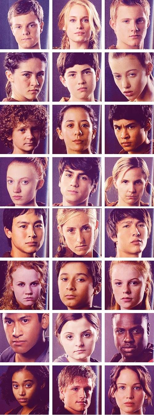 Look! It's ALL the tributes! Seriously take a look at these kids. One of them looks like she could be ten!