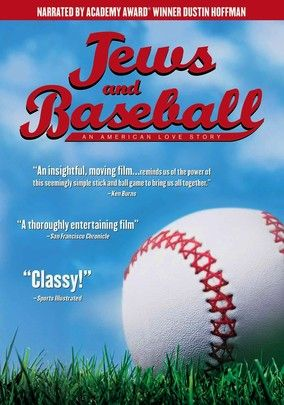 """""""Jews & Baseball: An American Love Story"""" (dir. Peter Miller, Documentary, 2010) --- Actor Dustin Hoffman narrates this decade-spanning documentary that highlights the contributions of Jewish Americans to the most American sport of them all: baseball. Highlights include a rare interview with legendary pitcher Sandy Koufax. Also featuring (the sadly former) Boston Red Sox third- and first-baseman Kevin Youkilis.: Baseb Graphics, Jewish Education, American Sports, Brilliant Baseb, Quintessenti American, Stories Dvd, American Culture, Allstar Games, Stories 1299"""