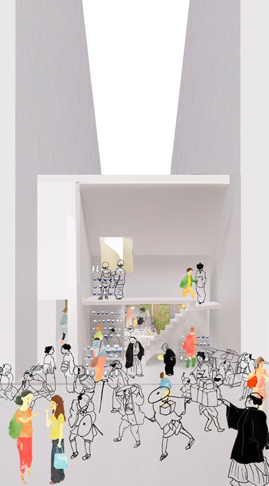 tonoma architects: ceramics market, osaka, japan