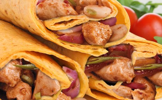 "Epicure's Asian Chicken Stir-fry Wraps - (Using ""Asian Chicken Stir-fry"" recipe as filler) (Copyright © Epicure Selections)"