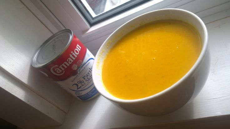 Easy to make Creamy Carrot Soup Recipe.  {You could make just about any kind of soup with this recipe.  Replace carrots for squash, sweet potatoes ect} #CarnationSoups