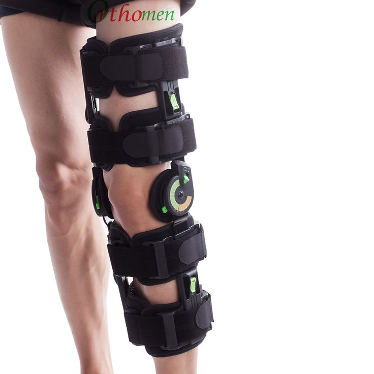 Orthomen Post-Op Knee Brace | Tool-free length-adjustable collateral bars prevent valgus and varus deformity #kneebrace