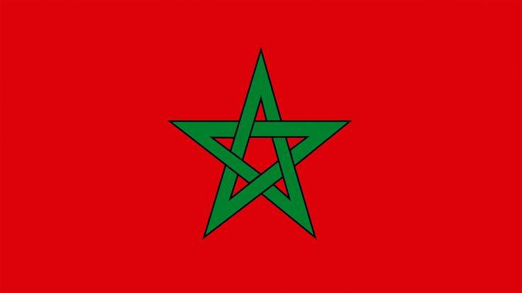 La estrella verde de la bandera de Marruecos