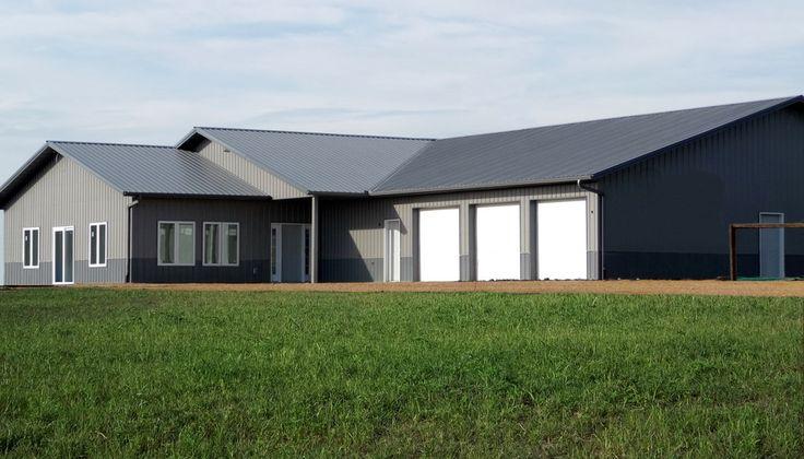 Shop plans  Pole barn houses and Pole barns on Pinterest