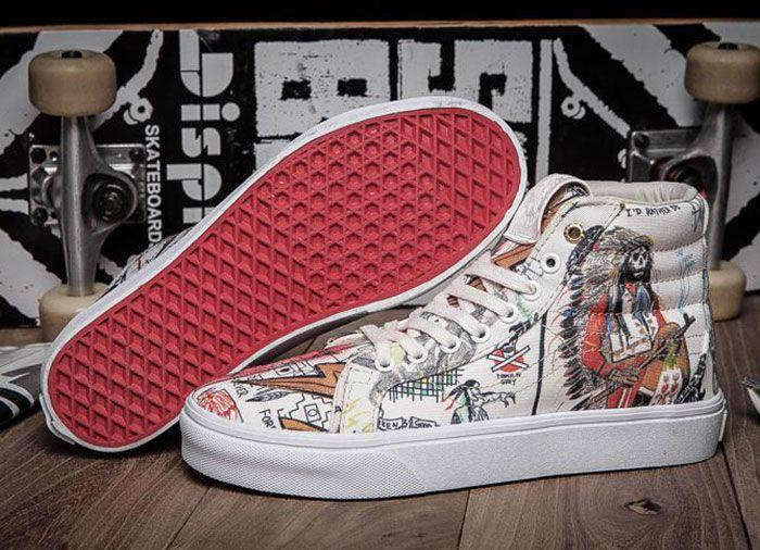 5253b757ce White Wes Lang x Vans Vault OG SK8 High LX Skate Shoes For Sale  Vans