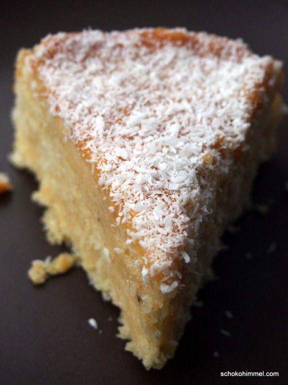 saftiger Kuchen mit Kokosmilch