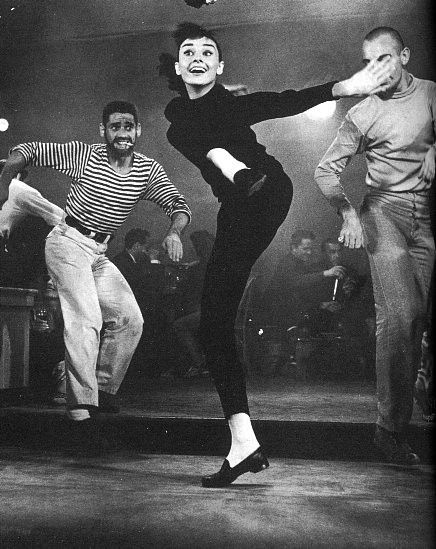 Audrey (Funny Face,1957): Beats Generation, Audrey Hepburn, Jazz Dance, Audreyhepburn, Funny Faces, Funnies, Things, Movie Fashion, Style Fashion