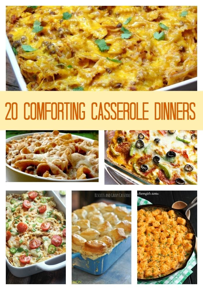 20 Comforting Casserole Dinners ~ there is something for everyone in this roundup.