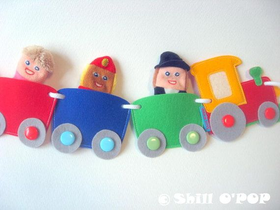 Choo Choo Train Felt Banner Train Felt Toy Pdf Pattern Phonics