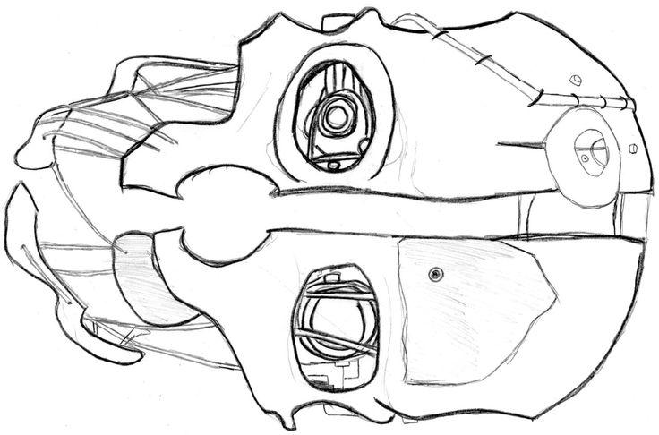 Corvo Dishonored Mask Drawing