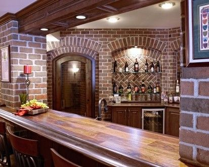 Finished Basement Bar And Wine Cellar, Basement, Detroit