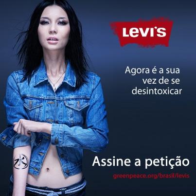 Descobrimos que as camisetas e os jeans da Levi's possuem substâncias químicas perigosas que se alteram no ambiente e poluem nossas águas. E, agora pedimos a Levi's que se desintoxique. Faça parte desse time e assine por uma moda sem poluição!