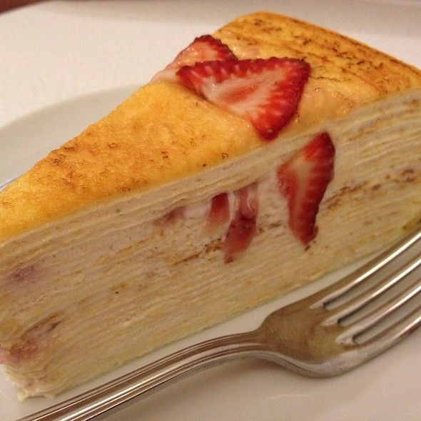 Strawberry Mille Crepe @ Lady M Cake Boutique