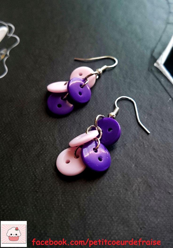 Boucles d'oreilles creation artisanale