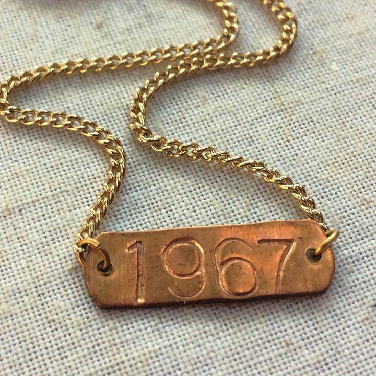 "12 Likes, 1 Comments - Nostalgems (@nostalgems) on Instagram: ""1967 can be special year for many. #nostalgems #handstampedjewelry #jewellery #jewellerynz"""