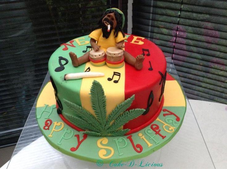 Reggae/Bob Marley - cake by Cake-D-Licious