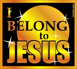 Free Animated active glitters Christian gif | Free Christian Glitter Images: I Belong to Jesus