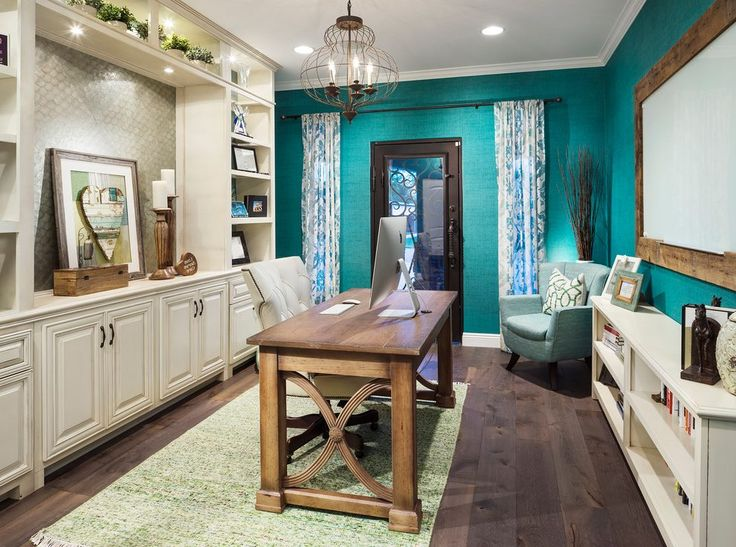 rustic glam home office transitional with desk chair tilt control