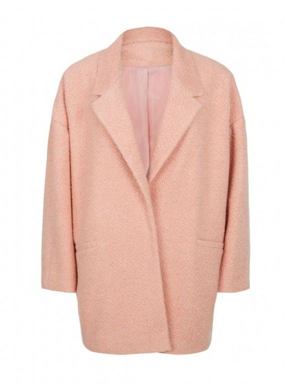 Primark should be everywhere.  Primark Pale Pink Crombie coat, £32 - Winter Coats - Woman And Home