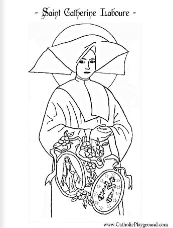 Saint Catherine Laboure Catholic coloring page Feast day is
