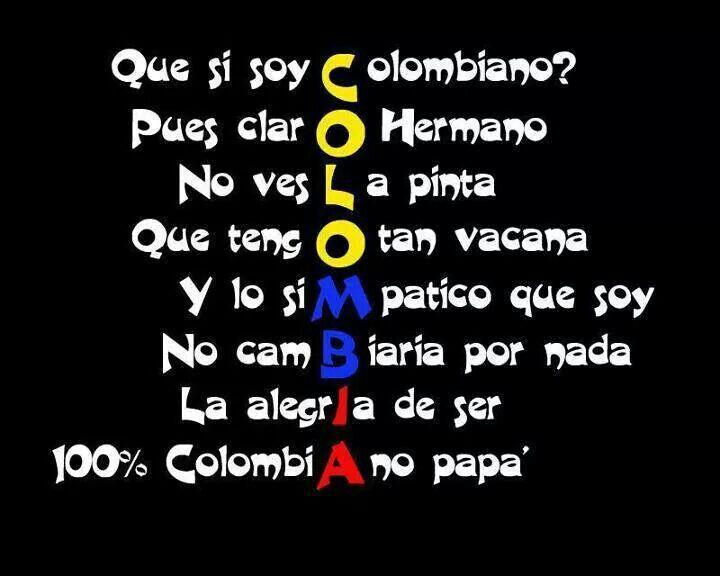 Colombia te amo ......