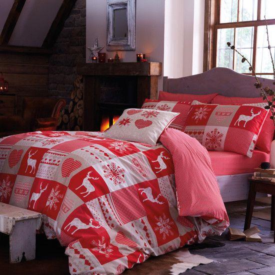 Red Woodland Patchwork Bedlinen Collection #DunelmPinterWonderland #Christmas #Comp #Win #Dunelm