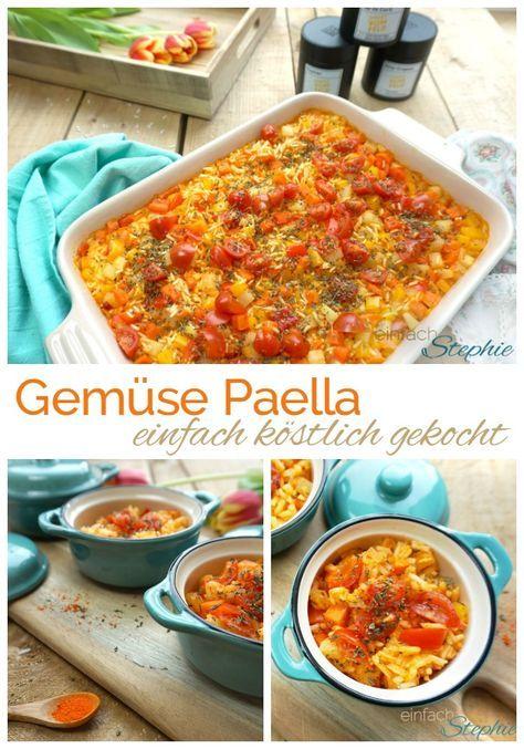 Gemüse Paella direkt vom Feld Mallorcas. Einfach kochen, vegan und vegetarisch mit Gemüse und Reis. Gemüse-Reis-Pfanne aus dem Ofen: https://einfachstephie.de/2017/03/06/gemuese-paella-direkt-vom-feld-mallorcas/
