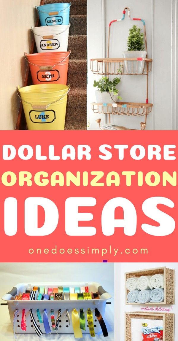 DIY Dollar Store Home Organization Ideas That Look Great
