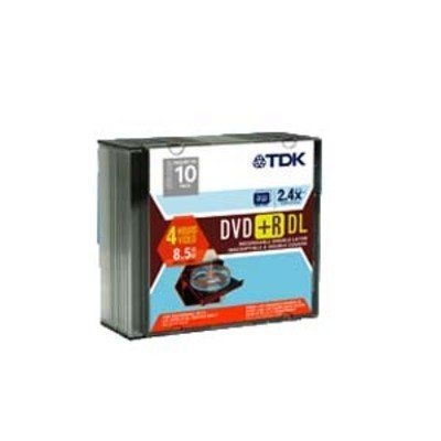 Disc DVD+R 8.5GB 2.4X Double Layer Branded 5 pk Jewel Case by TDK. $22.94. Disc DVD+R 8.5GB 2.4X Double Layer Branded 5 pk Jewel Case