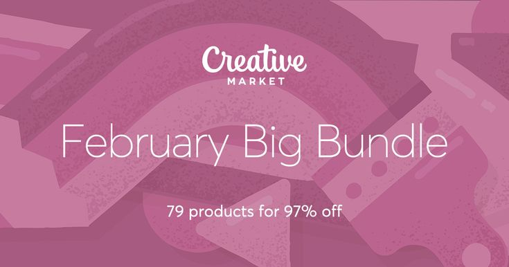 Check out February Big Bundle on Creative Market  Seriously - this resource is amazing and the bundles are such great deals