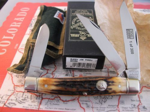 Королева-Джо Пардью-Мальчишники-ручка-3-лезвия-Лось-Стокман карманный нож