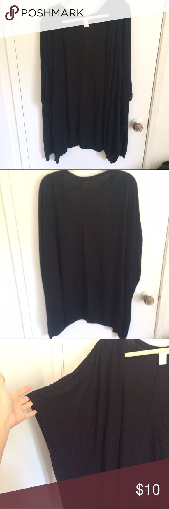 H&M Black Oversized Batwing Cardigan Cover Up XS In excellent used condition with no flaws. XS but fits oversized so would fit S M L as well. H&M Sweaters Cardigans