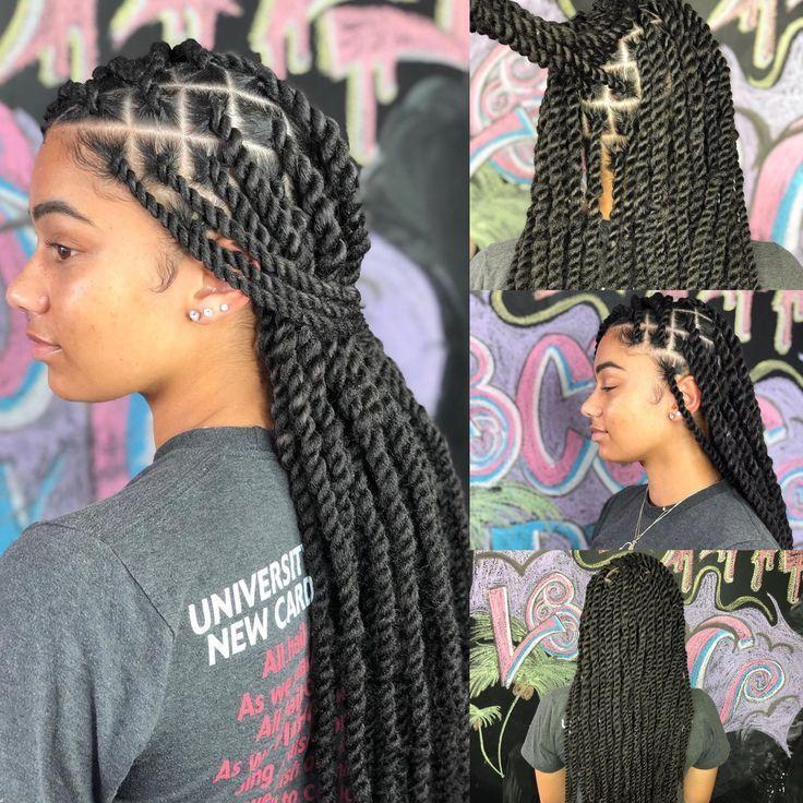 Braids Braidedhairstyles Twistbraids Twist Longhairstyles Shorthairstyles In 2020 Twist Braid Hairstyles Twist Braids Hair Styles