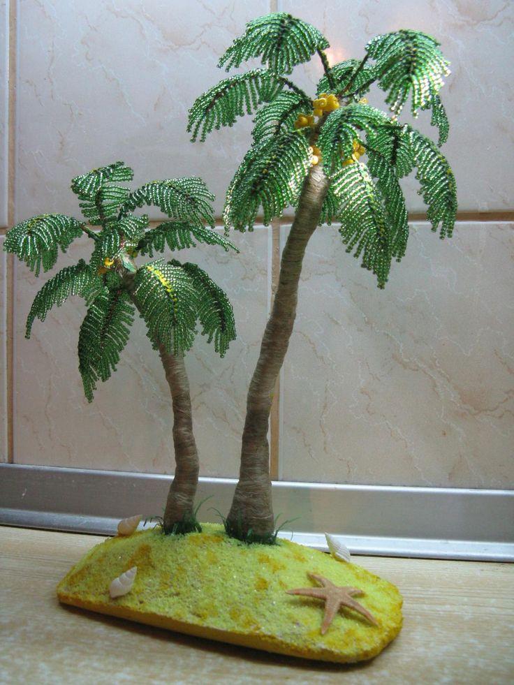 Пальма - beaded palm trees