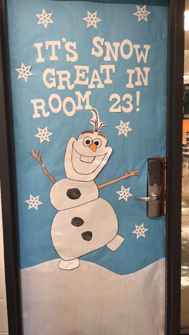 Disney frozen themed classroom door