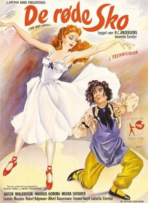 Danish The Red Shoes poster by Kurt Wenzel