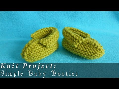 How to Knit Basic Mary Jane Baby Booties Part 1 (Left Bootie) - YouTube