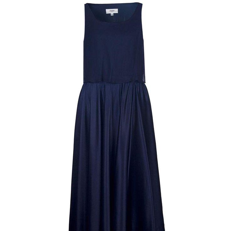 Silk Midnight Blue Dress on TROVEA.COM