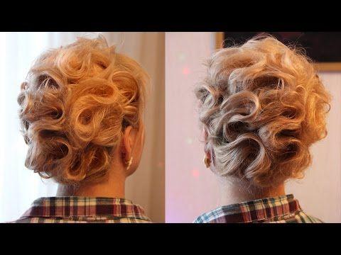 Причёска на короткие волосы - YouTube