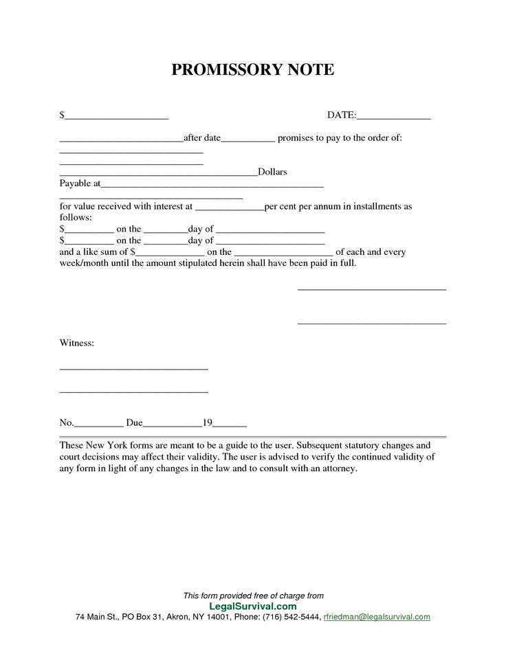 Permalink To Free Promissory Note Template  Printable Promissory Note