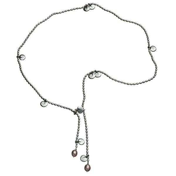 Kalevala Koru / Kalevala Jewelry / TWINFLOWER NECKLACE  Designer: Kirsti Doukas, material: silver, sweet water pearl