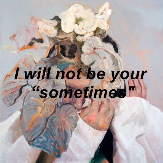 "no seré tu ""a veces """