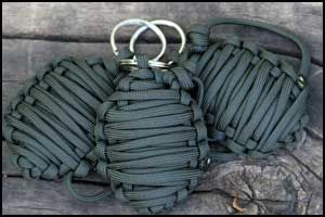 "Paracord ""Survival Grenade"" mini survival kit wrapped in paracord!"