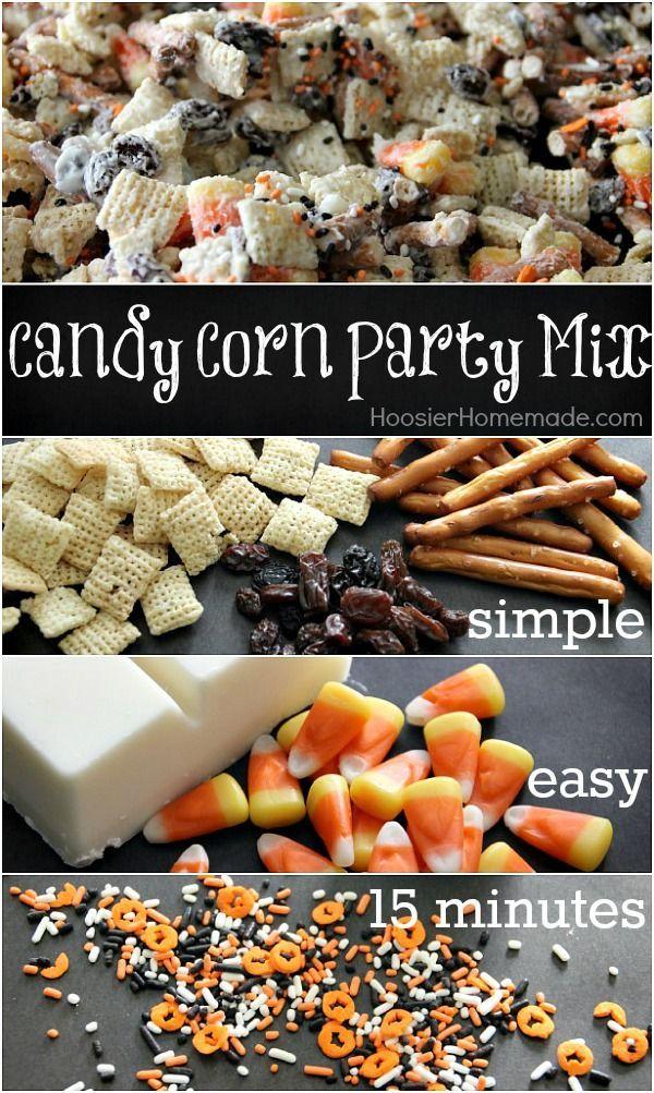 candy corn crunch halloween mix - Fun Halloween Ideas