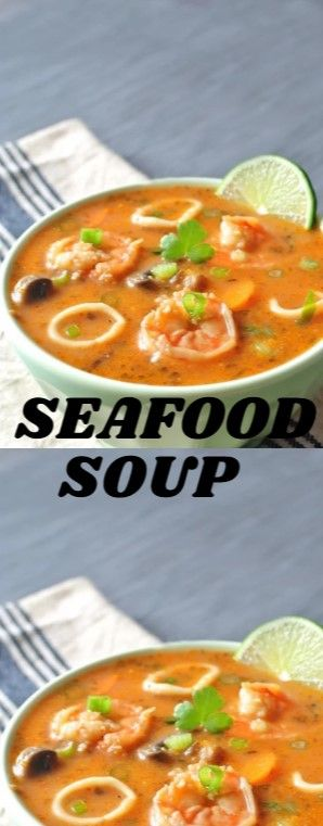 Seafood Soup  With so overmuch seafood difference in our freezer we couldn't…