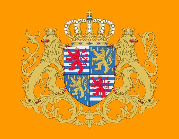 Bandeira do Grão Duque de Luxemburgo. Grand ducal standard of Luxembourg