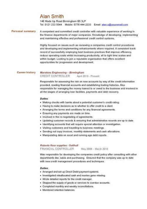 Financial CV template, Business administration, CV templates, accountant, financial jobs