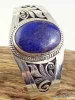 www.free-bouddha.fr, bijoux tibetains, artisanat tibétain, bijoux en argent pierres naturelles, bols tibétains, pashminas laine, vetements baba cool, jupes hippie Bracelet tibétain mantra LAPIS LAZULI BHB3 -