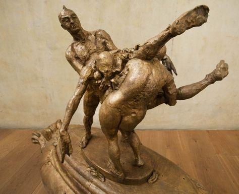 Escultura de Javier Marín en bronce.  Javier Marín's bronze sculpture.  Escultura contemporánea. Figura humana. Bronce a la cera perdida. Contemporary sculpture.Human form.  Lost wax bronze. javiermarin.com.mx » BRONCE